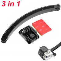 adhesive photo mounts - Helmet Extension Self Photo Arm Kit Curved Adhesive Mount for GoPro Hero ST