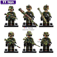 Wholesale New set shen yuan swat city police Marines minifigures brick model toys building block set collection children gift