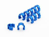 Wholesale Aluminum C Clip Cable Housing Hose Guide for Bike MTB BMX Hydraulic Hose Clip C Clip buckle rope lock tube clip colors