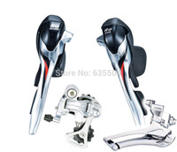 bicycle group set - New Arrival microSHIFT SB R402K Shifters X10S Speed Double Derailleur Group Set Road Bicycle Compatible for Shimano