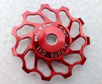 al aluminium - T T MTB Bike Jockey Wheels Rear Derailleur Guide Wheel Pulleys AL Aluminium Alloy