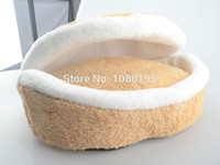 Wholesale Royal Cat House Plush Hamburger Design Cat Bed with Removable Cushion