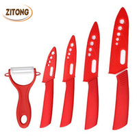 Wholesale Colors Ceramic Knife Set Black Handle Paring Fruit Utility Chef Home Kitchen Knives with Peeler Scabbard Sharp Quality