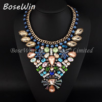 bib dress - Fashion Necklaces For Women Charm Jewelry Bib Torques Crystal Statement Pendants Chokers Necklaces For Female Dress CE2508