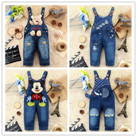 Wholesale New children s cute baby amp kids jeans rompers denim overalls jeans for girls and boys