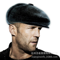 Wholesale Fur Earmuffs Cap Mink Tide Man Cap In Winter Hat In The Elderly