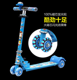 Wholesale Young Baby walk assisting kick scooters big wheel damping two wheel folding Foot scooter black white foot scooter
