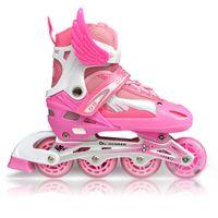 Wholesale Fashion Children Skating Shoes Kids PU Wheels Roller Skates Set Boy and Gilrs Child Adjustable Roller Shoes Flash Light Round