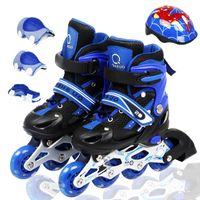 adjustable child chair - patins Skating shoes adult child set adjustable roller skates skating shoes full set flash roller shoes
