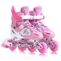 adjustable rollerblades - Children Inline Skating Shoes Girls Kids Size Adjustable Rollerblading Roller Skates Slalom Rollerblade No Tools