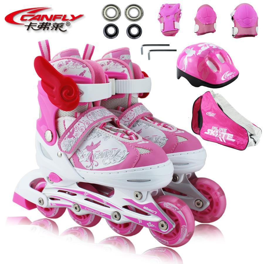 Roller skating shoes buy online - Online Cheap Wholesale Patins Skating Shoes Child Skating Shoes Full Set Of Double Adjustable Flashing Roller Skates By Vanesse Dhgate Com