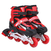 Wholesale Hot Sale Adult Skates Children Skates Adjustable Single Flash Rollerblading Roller Skate