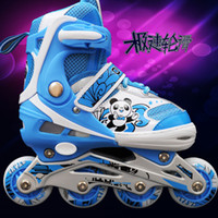 backpack with wheel shoes - patins Skating shoes child set skating shoes roller skates adjustable full flash wheel with a backpack