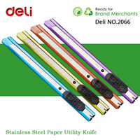 Wholesale Deli NO Multicolor Stainless Steel Utility Knife Paper Art Cutting Cutter Knife For Office School