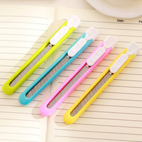 Wholesale Colorful Student Utility Knife Office Tool Sharpening Pencils Cutting