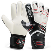 Wholesale size professional brand goalkeeper gloves High grade latex foam and PU for football soccer L142