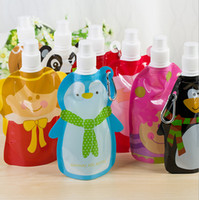 baby bladder - PC Animal shapes Sport portable child Portable folding water bottle Bladder outdoor children baby folding water bag