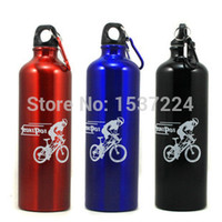aluminium flask - Outdoor Sports Travel Camping Mountain Bike Bicycle Aluminium Water Drink Portable Bottles Flask ml High capacity Drinkware