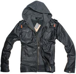 Motorcycle Leather Jacket Hoodie Men Online   Motorcycle Leather