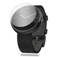 Motorola smartwatch Prix--For Wholesale Moto Motorola 360 Smartwatch Protecteur d'écran 0.2mm écran 9H en verre trempé Protection Guard Film anti-éclatement
