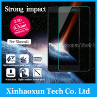 Wholesale Ultra thin Premium Tempered Glass Screen Protector For xiaomi M4 Mi4 Screen Protective Film Explosion Finger proof Super Clear