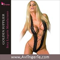 Wholesale Women Sexy Lingerie Set Hot Crochet Mesh Hollow Out Erotic Lingerie KLJ0