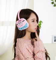 Wholesale Cute cartoon earflap Minion warm earmuff Winter women girl Fashion Plush Earmuffs Warm Ear JD
