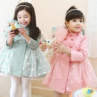 Cheap Wholesale-Children's clothing children shoes family fashion child trench outerwear female autumn and winter female child woolen