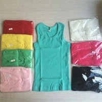 Cheap Wholesale-Wholesale Retail Boys Girls Summer Tank Tops Clothing Baby Child Vests Sleeveless Basic Vest Tanks Tops Clothes For Kids