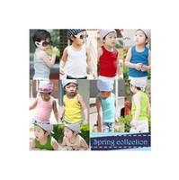 Wholesale Children s summer clothing male child summer sleeveless T shirt basic shirt summer child tank Children s summer vest
