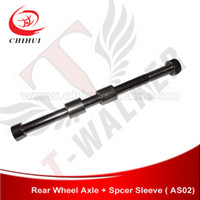 axle sleeve - High Quality mm Gas amp Electric Scooter Rear Wheel Axle with Spacer Sleeve T Walker Scooter Parts