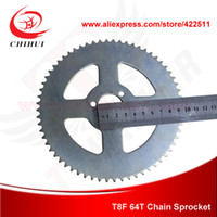 Wholesale T8F Teeth Electric Scooter Silver Chain Rear Sprocket mm Inner Diameter Electric Scooter Spare Parts