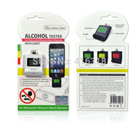 Cheap Wholesale-DHL 100pcs lot Wholesale iPega PG-I5006 Digital Backlight Alcohol Tester Breathalyzer for iPhone 6 5 5S iPad 4 Mini iPad Air