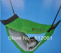 Cheap Wholesale-Free shipping Mice triangle hollow House swing Hammock for hamster Ferret Rabbit Rat Parrot Squirrel Hanging Bed cage pet