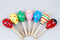 party maracas - Wooden Mini Maracas Music Instrument Favor Party Gift Baby Toys