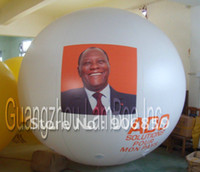 Wholesale HOT m Inflatable Helium Advertising Balloon with Man Photo on the Balloon Impressive