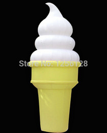 Wholesale Feet H Gemmy Inflatable Ice Cream Cone For Advertising Daytime and Night Come With LED light