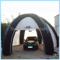 portable garage - Outdoor portable Garage painting workstation shelter inflatable car tent with blower for sale