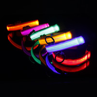 led glow products - New Safety Dog Collar Pet Products Nylon LED Collar Light up Flashing Glow LED Collars S M L XL