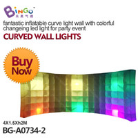 Wholesale fantastic inflatable curve light wall with colorful changeing led light for party event