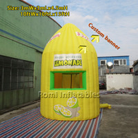 kiosk - mWx3mLx4 mH yellow inflatable lemon stand bar booth kiosk tent advertising tent
