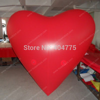 advertising balloons for sale - m Tall Hot sale red heart PVC helium advertising balloon for wedding and party with