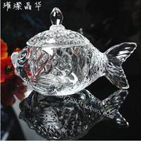 beautiful fish bowls - Beautiful fish ashtray crystal glass ashtray fashion creative Sugar Bowl