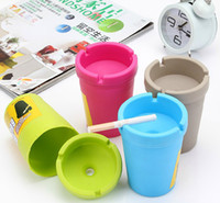 abs auto sales - Cheap sale Candy Colors Simple Fashionable Ashtray Car Auto Travel Butt Bucket Self Extinguishing Cigarette Ashtray Holder