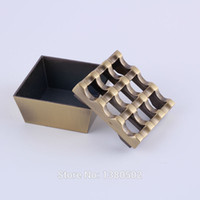 Wholesale New Design Old Gold Color Vintage Ashtray Smokeless Windproof Cenicero Ash Tray Cinzeiro Cendrier For Smoker Holder