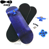 alloy tech wheels - ICANX MM MM Wooden Decks Finger Boarding Skateboard Bearing Wheels Mini Fingerboard Alloy Trucks Tech With Tool FBS020