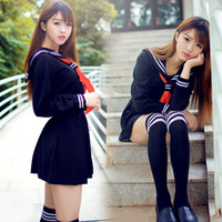 high school uniforms - Japanese sailor suit Anime cosplay costume Girls High school student uniform Long sleeve JK uniform sexy clothing