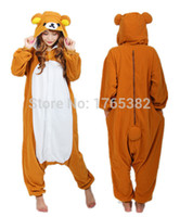 Wholesale Japan Anime Relax bear pajamas cosplay costumes Pyjama Adults Animal Rilakkuma onesies Jumpsuit Christmas gift for women