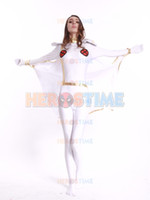 Wholesale X men costume White Storm Woman Superhero Costume spandex halloween cosplay Storm Woman zentai suit hot sale