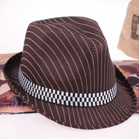 Wholesale New Summer Women Men Unisex Casual Panama Hats Caps Trilby Jazz Hat Fedora Cap Stingy Brim Hat